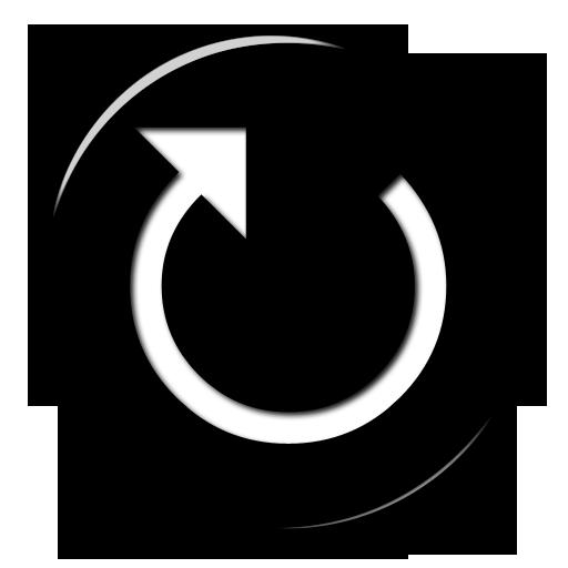 007720 glossy black 3d button icon arrows arrow redo png vevmo